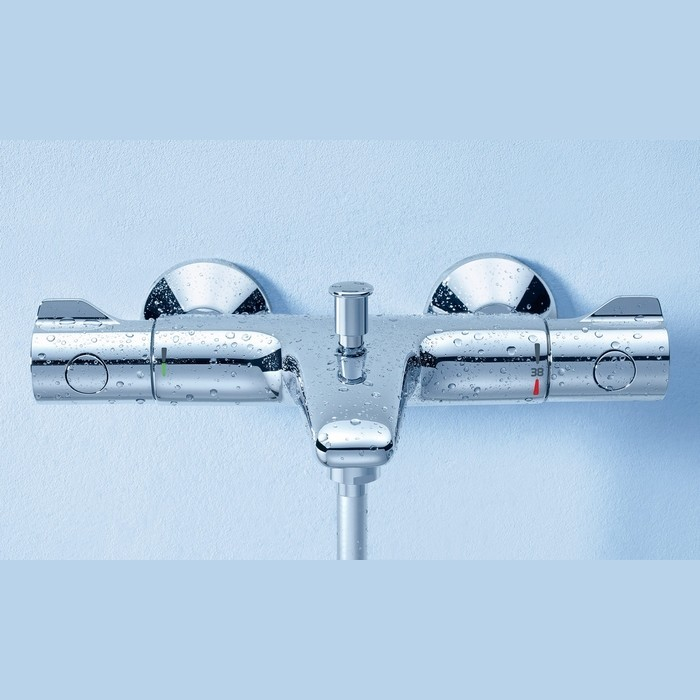 mitigeur thermostatique bain douche grohe grohtherm 800 plomberie online. Black Bedroom Furniture Sets. Home Design Ideas