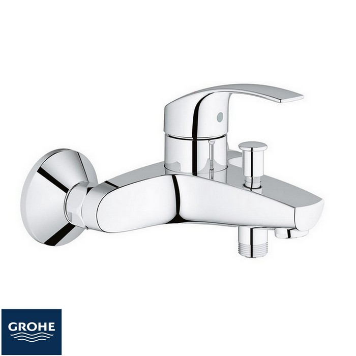 Mitigeur thermostatique bain douche monotrou grohe for Mitigeur mural grohe