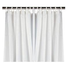 Rideau de douche textile Blanc 180 x 200 cm