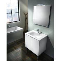 Ensemble meuble vasque 70 avec miroir et éclairage DUBLINO