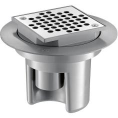 Siphon de sol avec grille Inox 100x100 - DELABIE