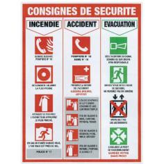 Panneau Consignes de sécurité 50 x 37,3 cm