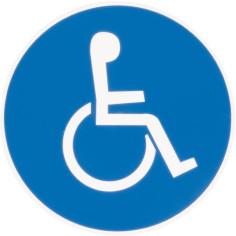 Panneau Parking handicapé Ø 30 cm