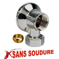 Applique laiton chromé bicône Ø 12 mm SANS SOUDURE - Plomberie Online