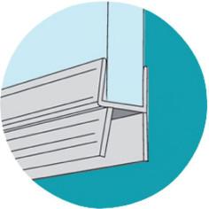 Joints d'étanchéité double lèvre pour bas de porte de douche GEB