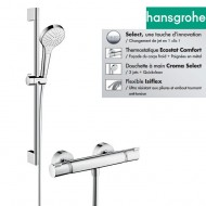 Ensemble douche thermostatique HANSGROHE Ecostat + Croma Select S Vario