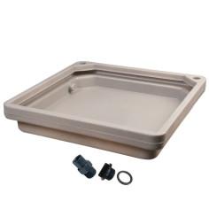 Bac de rétention / anti-fuite pour chauffe-eau posé au sol avec accessoires