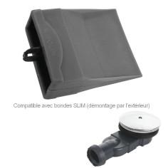Bonde slim et Membrane souple filtre pour bonde douche Slim WIRQUIN Pro 30719155