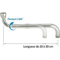 """Bec télescopique 20 à 30 cm pour robinet 3/4"""" - NEOPERL 16620296"""