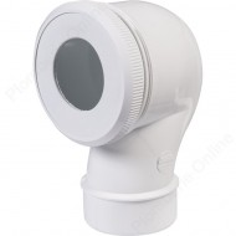 Pipe coudée wc Ø 100mm recoupable NICOLL CWP33
