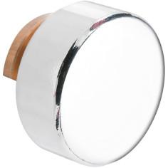 Fixation miroir Ø 20 mm - patte à glace ronde en laiton chromé