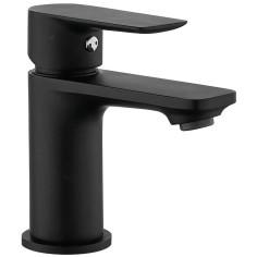 Mitigeur de lavabo noir THEWA Jezorio Black Design