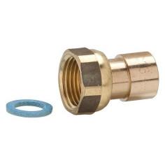 """Raccord gaz 2 pièces 1/2"""" à souder pour tube cuivre Ø 16 mm - CLESSE"""
