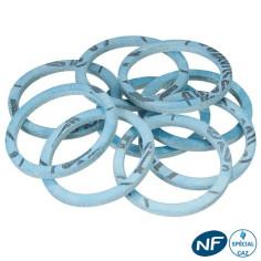 Joint de raccord Gaz DN12 bleu aramide + NBR en pochette