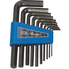 Jeu de 10 clés 6 pans mâles (Allen) EGAMASTER avec étui de rangement.