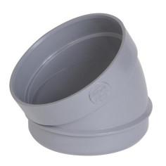 Secteur de coude 30° PVC pour évacuation Ø 100 mm - NICOLL ST3