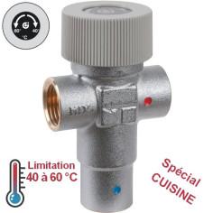 Mitigeur thermostatique de sécurité 60°C eau chaude sanitaire cuisine CALEFFI
