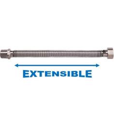 "Flexible extensible Inox M 3/4"" - F 3/4"" Longueur 250 à 500 mm - TUCAI"