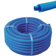 Tube PER Ø 20 mm gainé bleu en couronne