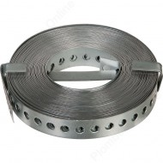 Bande perforée de fixation ou supportage en acier galvanisé - 10 m - GAH ALBERTS