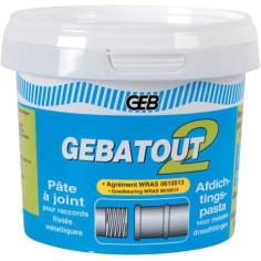 Pâte à joint GEBATOUT 2 pour raccords filetés en pot de 500 g