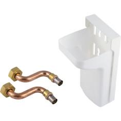 Kit boîtier et tubes pour raccordement radiateur pour PER à sertir