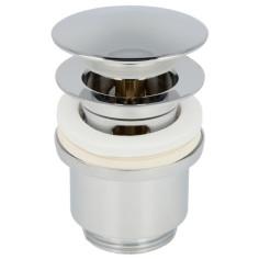 """Bonde laiton chromé 1""""1/4 pour lavabo avec clapet clic-clac - Sélection Plomberie Online"""