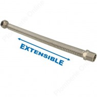 "Flexible 1/2"" extensible 300 - 600 mm inox annelé"