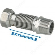 "Flexible 3/4"" extensible 75 - 130 mm inox annelé"