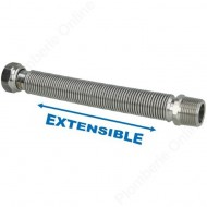 "Flexible 3/4"" extensible 200 - 410 mm inox annelé"
