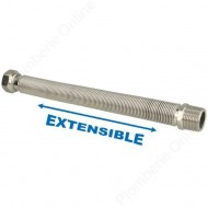 "Flexible 3/4"" extensible 260 - 520 mm inox annelé"