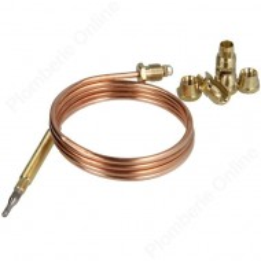 Thermocouple L 1200 mm - 30 mV maxi pour appareil gaz propane ou butane