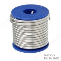 Étain pour brasure tendre sanitaire - Sn97Cu3 en bobine de 250 g