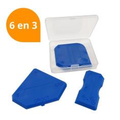 Outils de lissage et jointement - jeu de 3 lisseurs - 6 formes