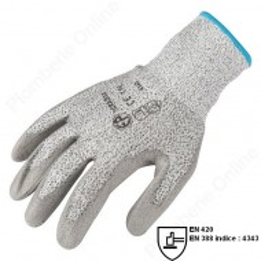 Gants de protection anti-coupure tricotés avec enduit PU