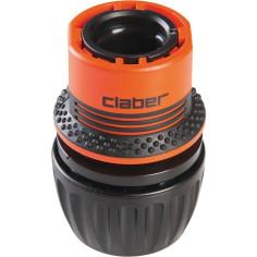 Raccord rapide Universel AQUASTOP (pour tuyau de Ø 15 à 19 mm) - CLABER Ergogrip