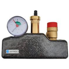 Ensemble de sécurité et de purge pour chaudière ou circuit de chauffage