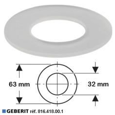 Joint de cloche Ø 63 x 32 mm pour soupape mécanisme wc- GEBERIT 816.418.00.1
