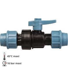 Vanne pour tube PE Ø 20 mm raccord à compression - UNIDELTA