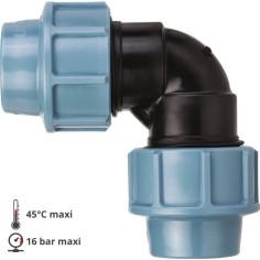 Coude pour tube PE Ø 32 mm à serrage extérieur - UNIDELTA