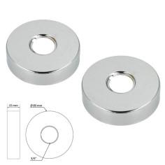 """Rosace chromée DESIGN 3/4"""" - Ø 80 mm - Hauteur 15 mm - Sélection PLOMBERIE ONLINE"""