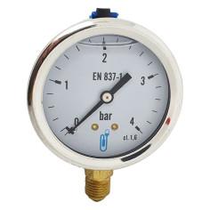 "Manomètre radial à bain de glycérine pression 0 - 4 bar M 1/4"""