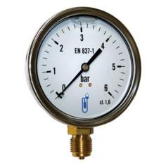 "Manomètre radial à bain de glycérine pression 0 - 6 bar M 1/4"" - DISTRILABO"