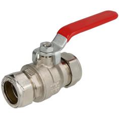 Vanne laiton bicône Ø 18 mm à compression - Sélection Plomberie Online