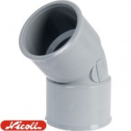 Coude 45° FF PVC à coller NICOLL
