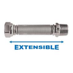 Flexible Inox extensible L 100 à 195 mm - CODITHERM