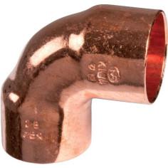 Coude cuivre 90° femelle - femelle à souder - Plomberie Online