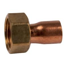 Raccord cuivre à écrou libre (collet battu)