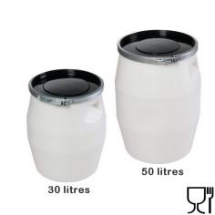 Fût étanche 30 ou 50 litres, qualité alimentaire, fabrication française - GILAC